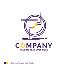 Company name logo design for chain connect vector