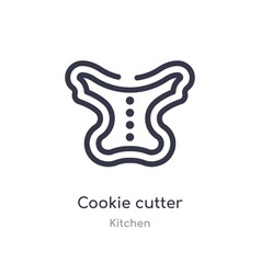 Cookie cutter outline icon isolated line from vector