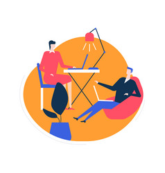 Coworking space - flat design style colorful vector