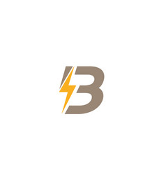 Creative b letter power text symbol logo vector