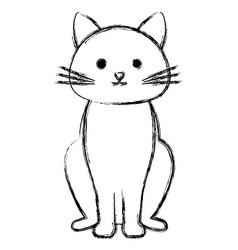 Cute cat pet friendly vector
