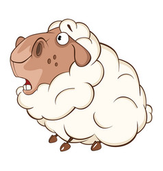 cute sheep cartoon character vector image