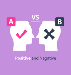 decision making pros and cons versus concept vector image