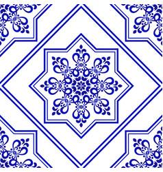 decorative tile design vector image