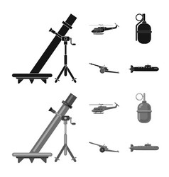 Design weapon and gun sign set vector