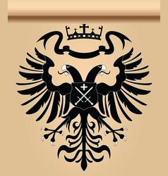 Doubleheaded heraldic eagle vector