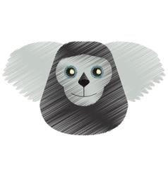 Drawing black bearded saki animal brazil vector
