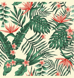 Exotic tropical seamless pattern background vector