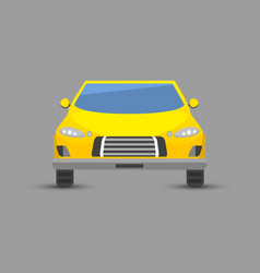 flat yellow car vehicle type design style vector image
