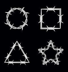 Four different geometric shape silhouette of vector