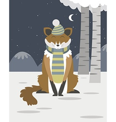 Fox in the snow vector image