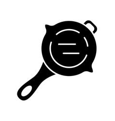 Frying pan glyph icon virtual video game vector