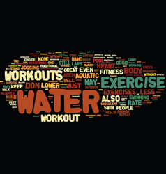 Great summer workouts just add water text vector