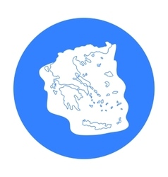 Greece territory icon in black style isolated on vector