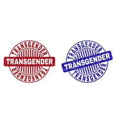 Grunge transgender textured round stamps vector