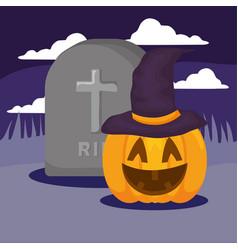 halloween pumpkin desing vector image