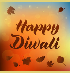 Happy diwali for invitation greeting card poster vector