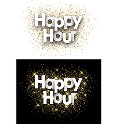 Happy hour paper card vector