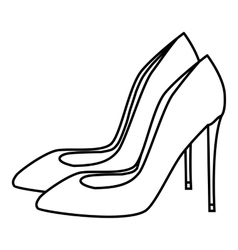 High heel shoes icon outline style vector
