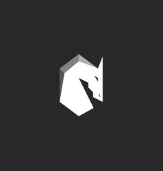 horse head logo abstract figure of a stallion vector image