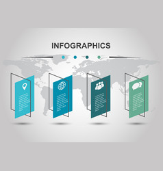 Infographic design template with shear banners vector