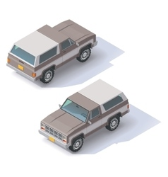 isometric SUV vector image