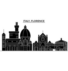 Italy florence architecture city skyline vector