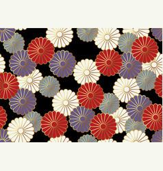 japanese seamless chrysanthemum pattern vector image