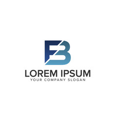 Letter fb logo design concept template vector