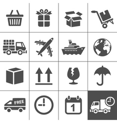 Logistics icons set Simplus series vector