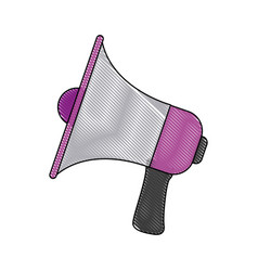 megaphone announce audio volume voice vector image