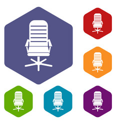 Office chair icons set vector