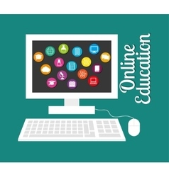 Online Education design vector image