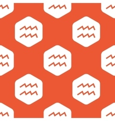 Orange hexagon aquarius pattern vector