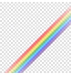 Rainbow icon realistic 9 vector image