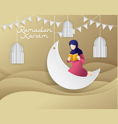 ramadan greeting vector image