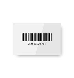 Realistic barcode icon isolated with shadow vector