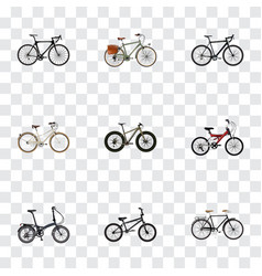 Realistic folding sport-cycle extreme biking vector