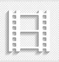reel of film sign white icon with soft vector image