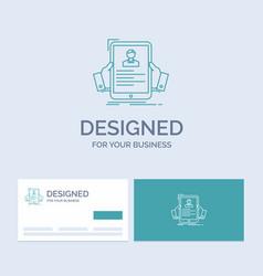 Resume employee hiring hr profile business logo vector