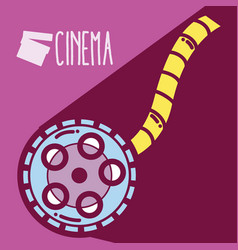 rolling reel cinema cartoon vector image