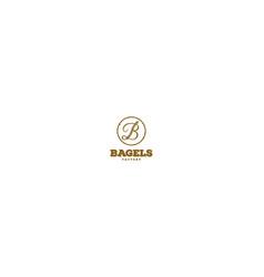 Rustic retro vintage letter b for bagels logo vector