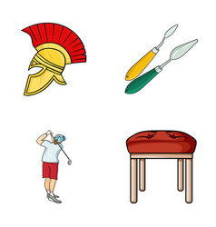 Seats leg and other web icon in cartoon styleart vector