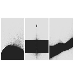 set black and white backgrounds with dust vector image
