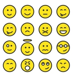 Set of smiley faces vector