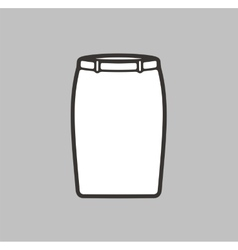 Skirt icon vector image