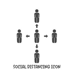 Social distancing icon simple flat style vector