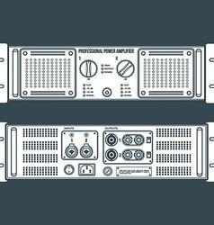 Solid color speaker amplifier device vector
