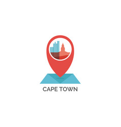 South africa cape town map pin icon vector