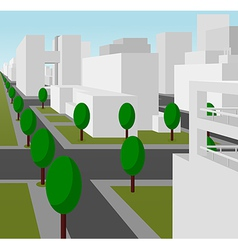 street in a modern city vector image